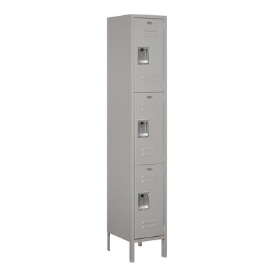 Salsbury Industries Unassembled Triple Tier 1 Wide Extra Wide Standard Locker