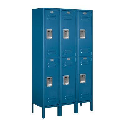 Salsbury Industries Unassembled Double Tier 3 Wide Standard Locker