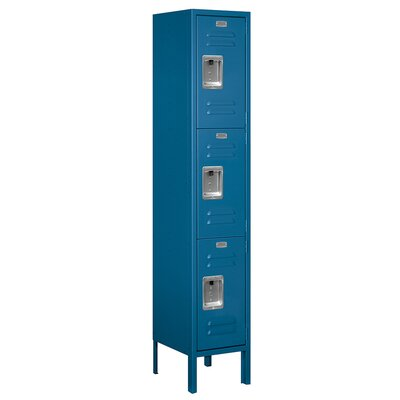 Salsbury Industries Assembled Triple Tier 1 Wide Standard Locker