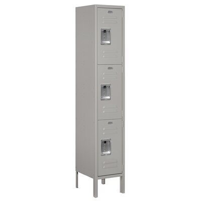 Salsbury Industries Assembled Triple Tier 1 Wide Standard Locker