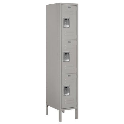Salsbury Industries Unassembled Triple Tier 1 Wide Standard Locker