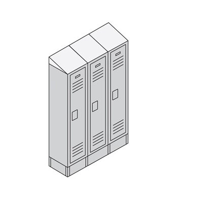 Salsbury Industries Unassembled Single Tier 3 Wide Standard Locker