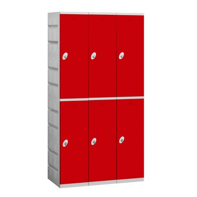 Salsbury Industries Unassembled Double Tier 3 Wide Locker