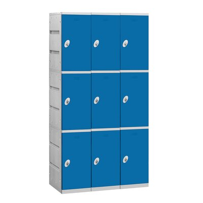 Salsbury Industries Unassembled Triple Tier 3 Wide Locker