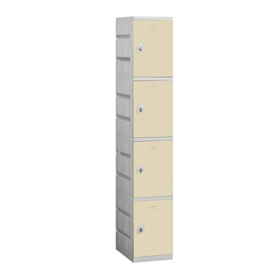 Salsbury Industries Assembled Four Tier 1 Wide Locker