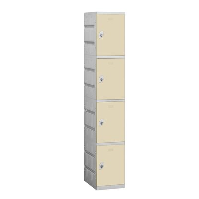 Salsbury Industries Unassembled Four Tier 1 Wide Locker