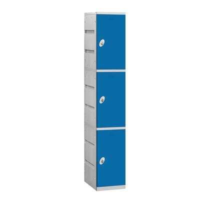Salsbury Industries Unassembled Triple Tier 1 Wide Locker