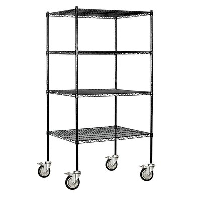 Salsbury Industries Wire 4 Shelf Shelving Unit Mobile