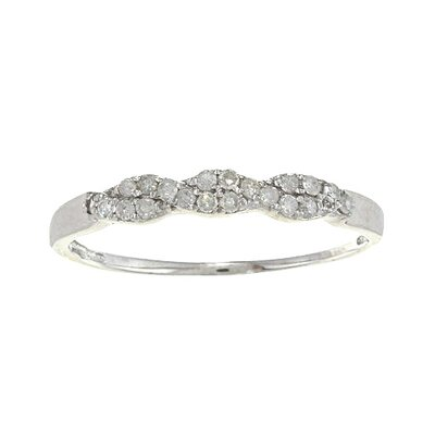 White Gold Braided Pave Set Diamond Ring