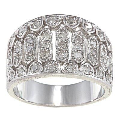 Sterling Silver Diamond Anniversary Ring