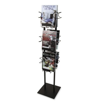 Buddy Products 6 Pocket Magazine Display Rack