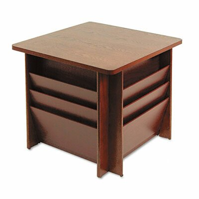 Buddy Products Reception Table, Square, 23-1/4w x 23-1/4d x 21h, Mahogany