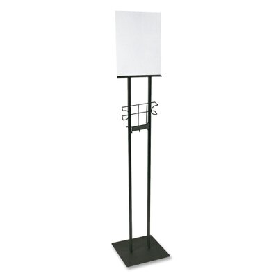 "Buddy Products Lobby Sign Holder, Stand, 12""x12""x48"", Black"