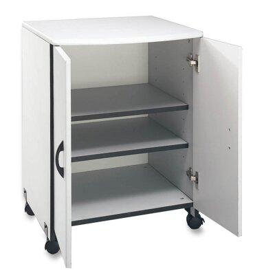 "Buddy Products Machine Stand,for  Printer/Copier,w/2-Doors, 23""x23""x31"", Gray"