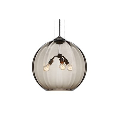 Tech Lighting World 3 Light Globe Pendant