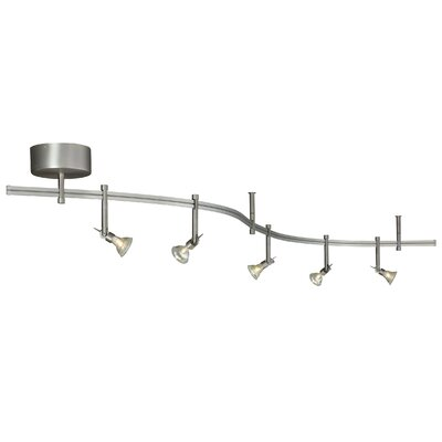 Tiella 5 Light Decorative Flexible Track Light
