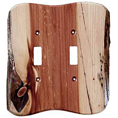 Rustic 2 Toggle Unfinished Switch Plate