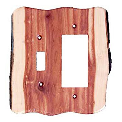 Rustic Toggle / Decora Unfinished Switch Plate