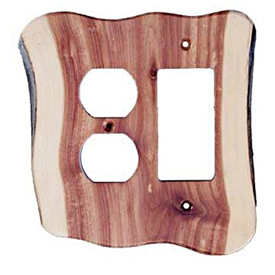 Rustic Duplex / Decora Unfinished Switch Plate