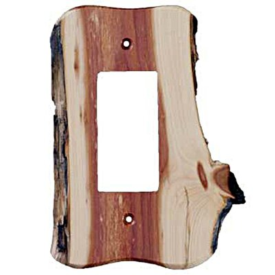 Rustic 1 Decora Unfinished Switch Plate