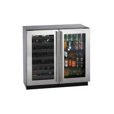 Wine Captain 31 Bottle / 3.6 Cu. Ft. Double Door Beverage Center