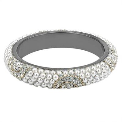 Dv Italy Round Crystal Bangle Bracelet