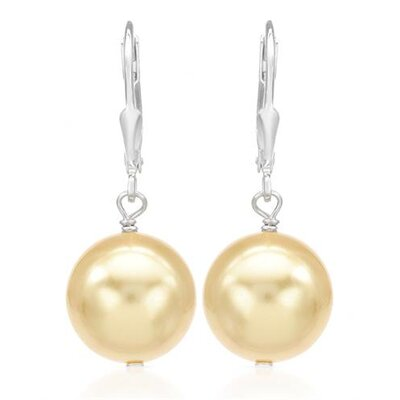 925 Sterling Silver Beaded Faux Pearl Drop Earring