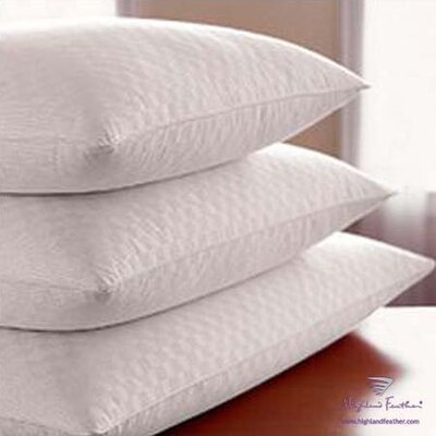 Highland Feather Damask Hutterite Goose Down Pillows - Level II 370T.C.