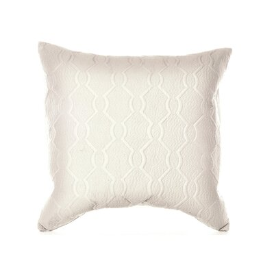 "Vera Wang  Damask 20"" x 20"" Textured Quilted Decorative Down Pillow"