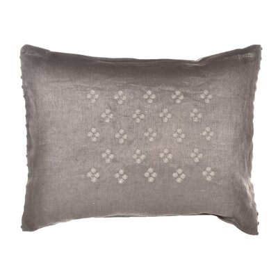"Vera Wang Damask 12"" x 16"" Petit Pois Embroidered Decorative Down Pillow"