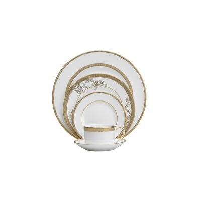 Vera Lace Gold 5 Piece Place Setting