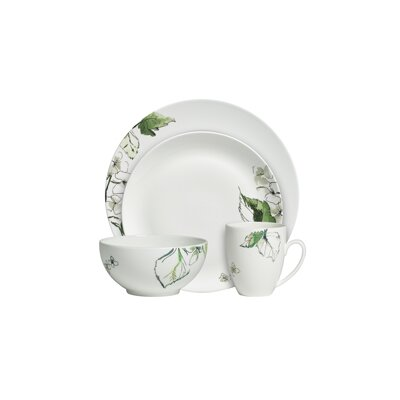 Floral Leaf Dinnerware Set