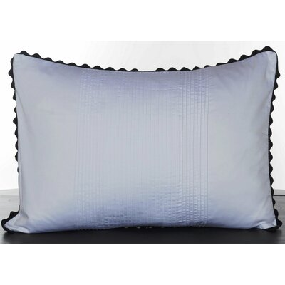 Vera Wang Pom Pom Satin Pleated Decorative Pillow
