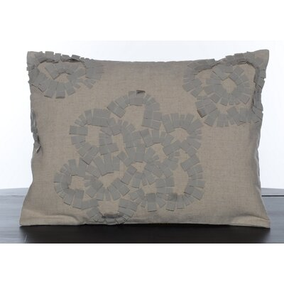 Vera Wang Etched Roses Quilted Tattersall Decorative Pillow