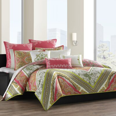 echo design Gramercy Paisley Cotton Breakfast Pillow