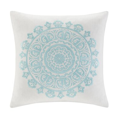echo design Paros Cotton Faux Linen Square Pillow