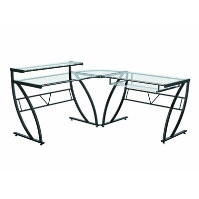 Z-Line Designs Belair Glass L-Shape Computer Desk