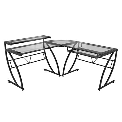 Z-Line Designs Feliz Glass L-Shaped Computer Desk
