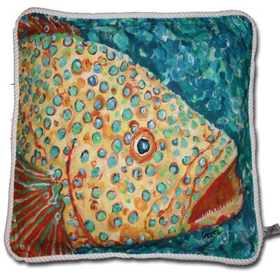 Spotted Grouper Cotton Pillow