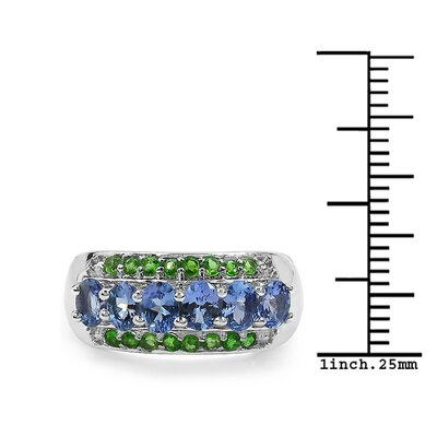 JewelzDirect 925 Sterling Silver Gemstone Ring