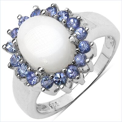 925 Sterling Silver Oval Cut Opal Halo Ring