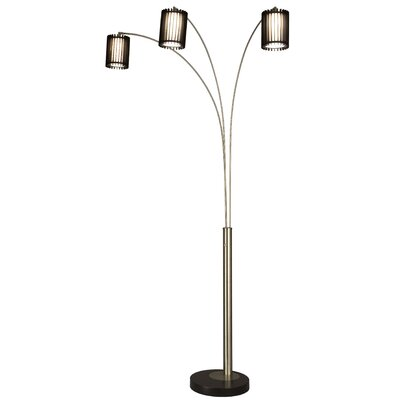 Nova Steccia 2 Light Arc Floor Lamp