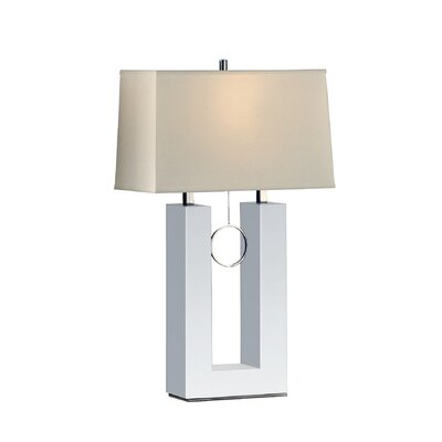 Nova Earring Reclining Table Lamp in White