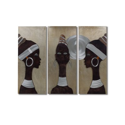 Gilmore 3 Piece African Trio Wall Graphic