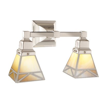 Hudson Valley Lighting Art Glass 2 Light Vanity Light
