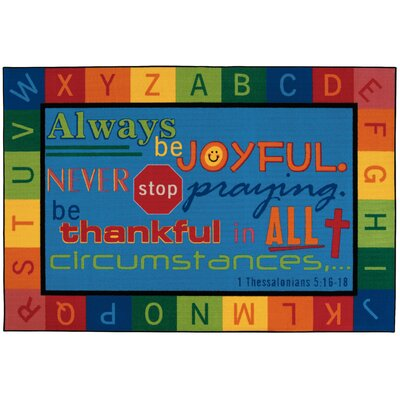 Kids Value Rugs Always be Joyful Circletime Kids Rug
