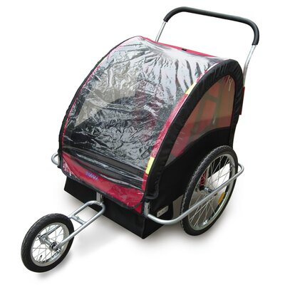 Amoroso Enterprise Inc 2 in 1 Double Baby Bike Trailer