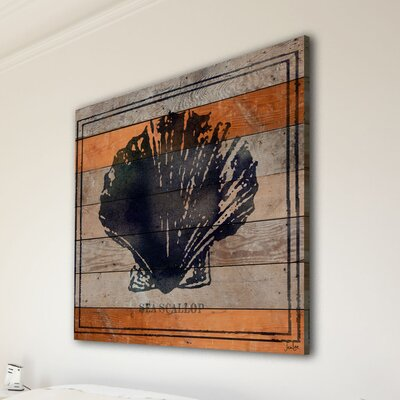 Jen Lee Art Sea Scallop Reclaimed Wood - Douglas Fir Art