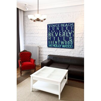 Jen Lee Art Beverly Hills Textual Art on Canvas