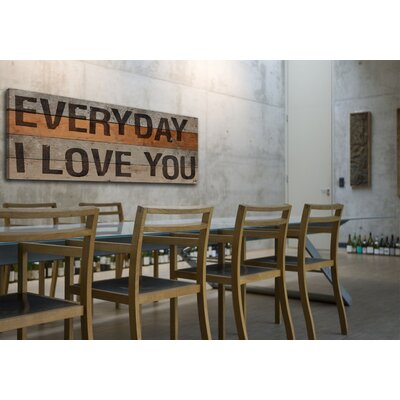 Jen Lee Art Everyday I Love You Stencil Textual Art Plaque